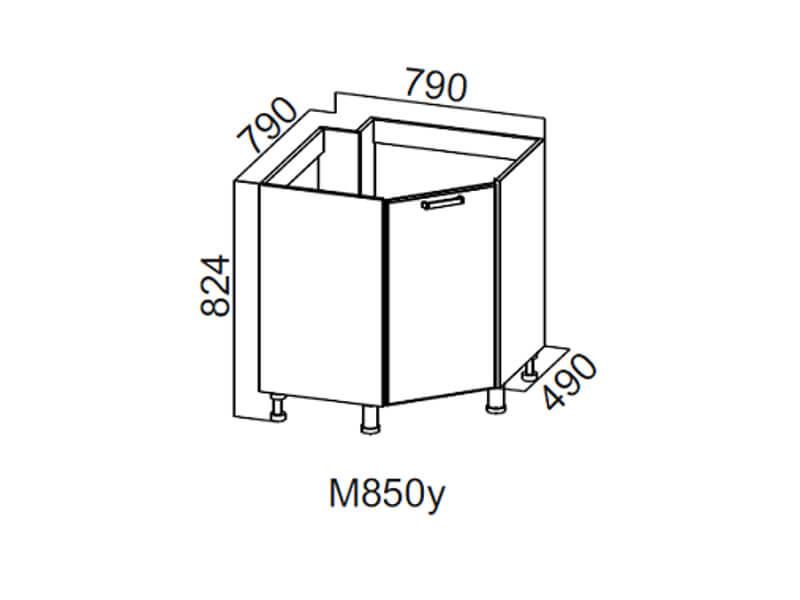 Стол-рабочий угловой 850 под мойку М850у 824х790х790мм
