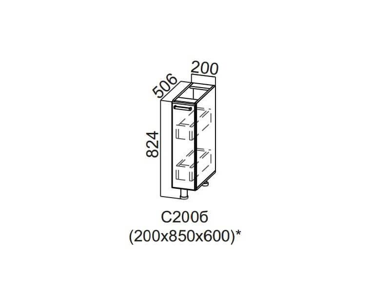 Стол-рабочий Бутылочница 200 С200б 824х200х506мм