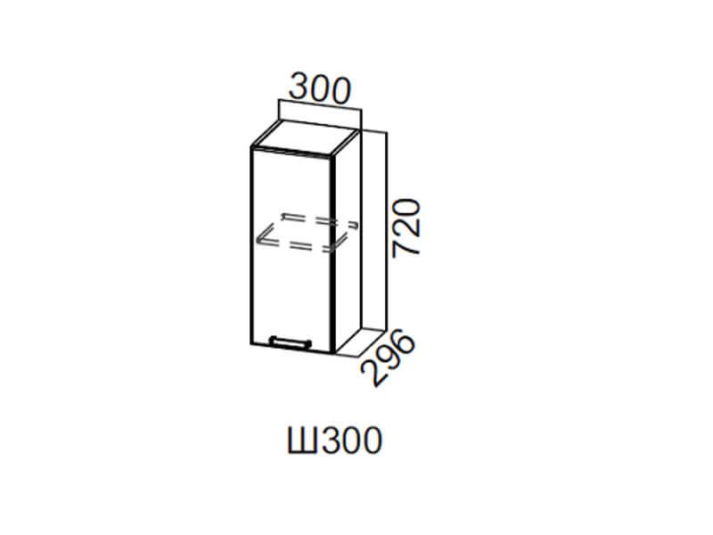 Шкаф навесной 300 Ш300 720х300х296мм