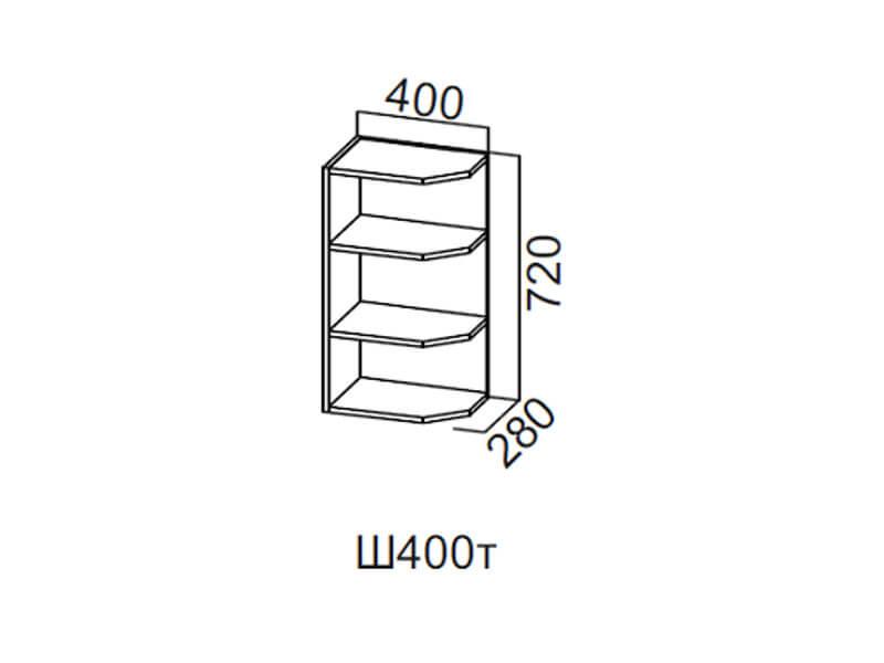 Шкаф навесной торцевой 400 Ш400т 720х400х296мм