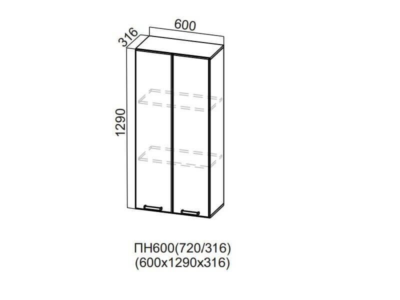 Пенал-надстройка 600 ПН600-720 1290х600х316мм