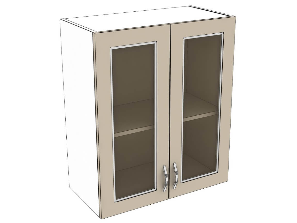 Шкаф навесной со стеклом 600 2Д