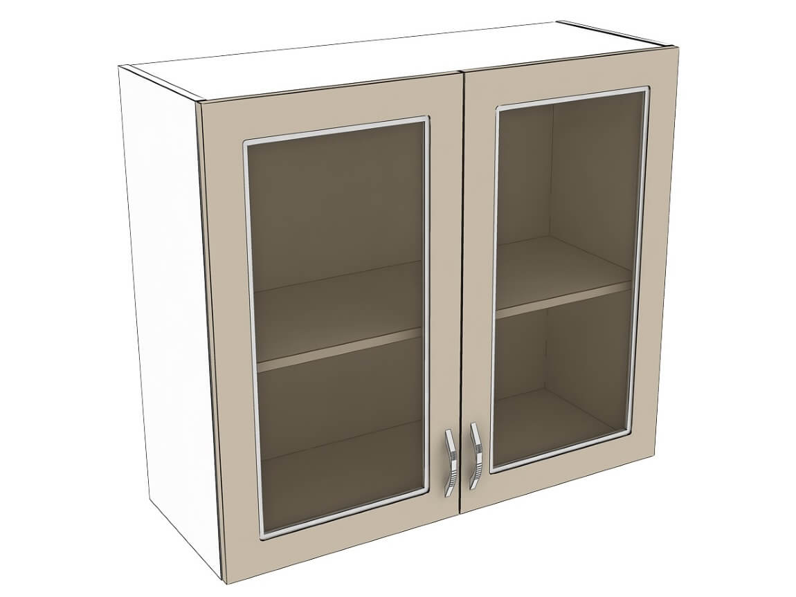 Шкаф навесной со стеклом 800 2Д
