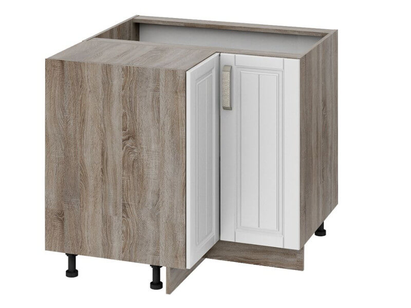 Шкаф нижний угловой с углом НУ90-72-2ДР-НУ