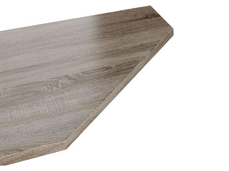 Крышка стола торцевая правая Сп40Т-60-150R 40х600х1500мм