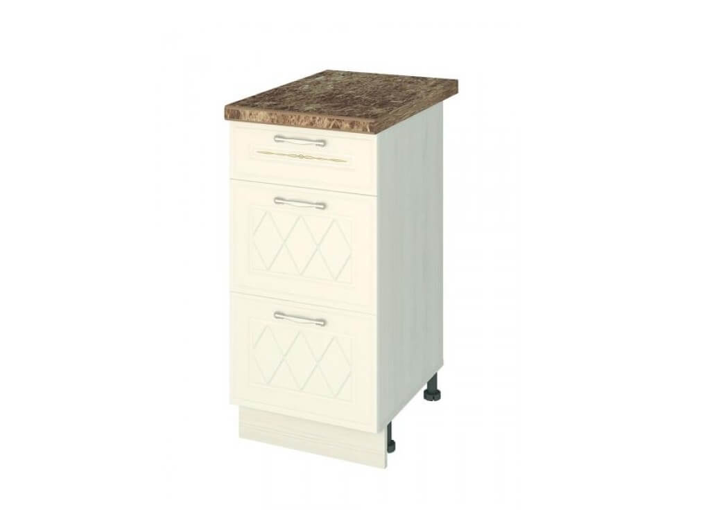 Стол с 3 ящиками-метабоксы 19.59 400х530х820 без столешницы