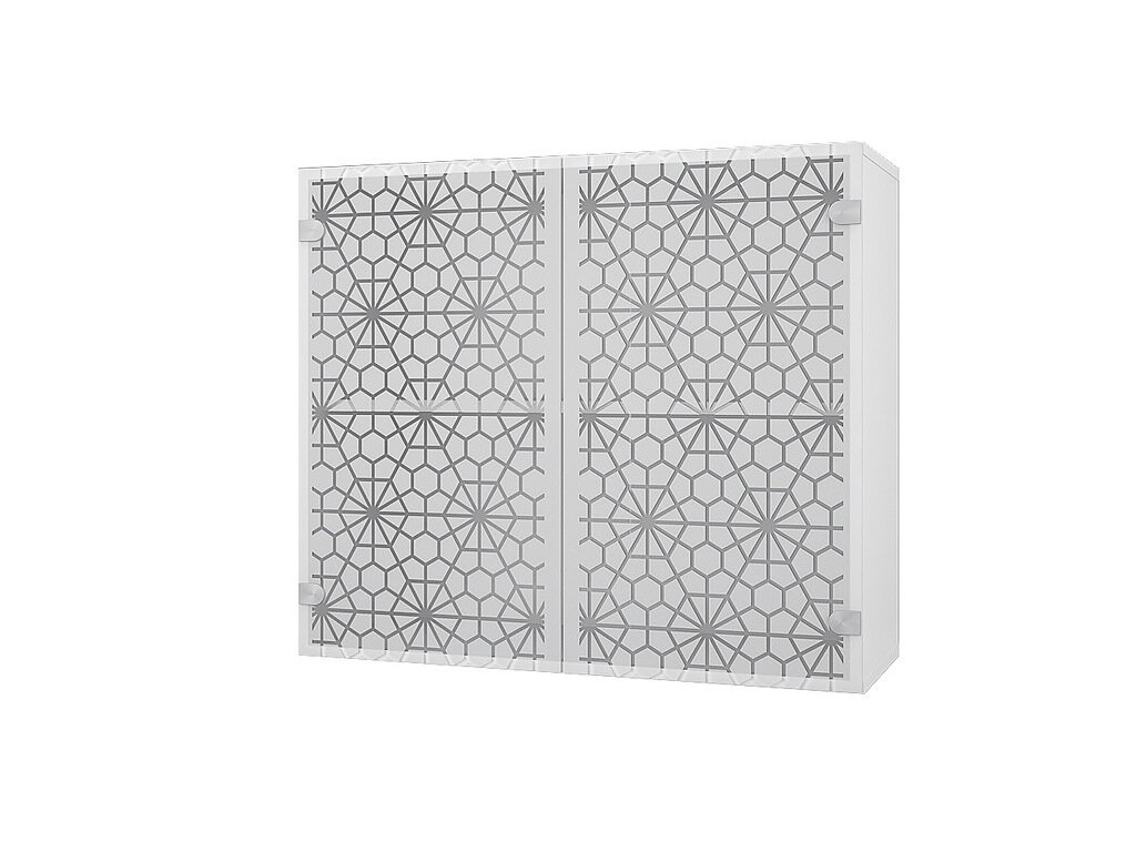 Шкаф 80 стеклостворки 800 Снежинка 800х700х300