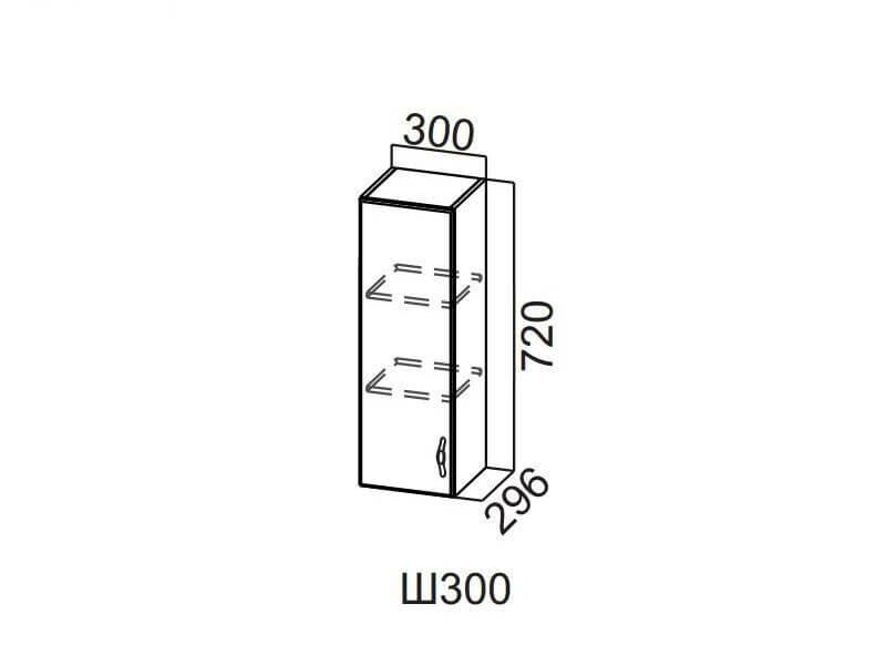 Шкаф навесной 300 Ш300-720 720х300х296мм
