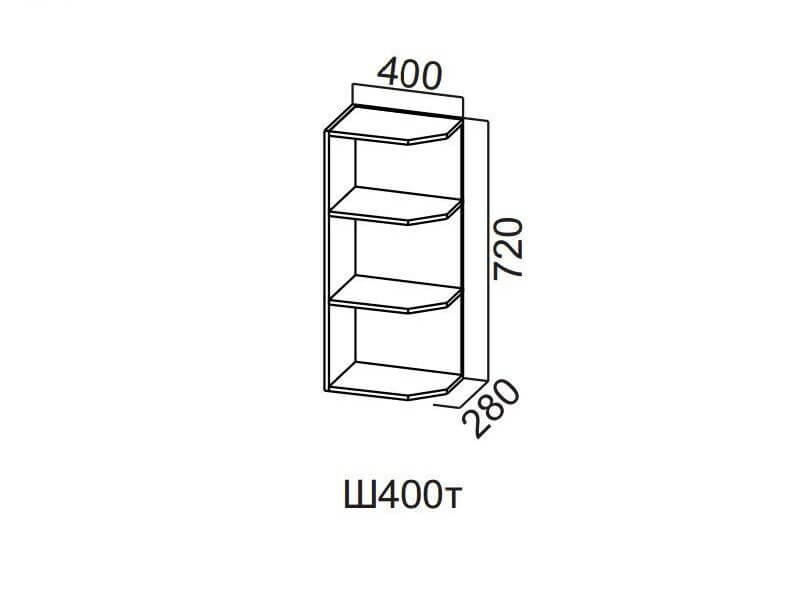 Шкаф навесной торцевой 400 Ш400т-720 720х400х296мм
