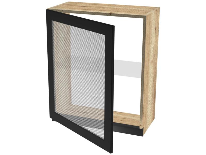 Шкаф ШСТ-60 навесной со стеклом 600х320х742
