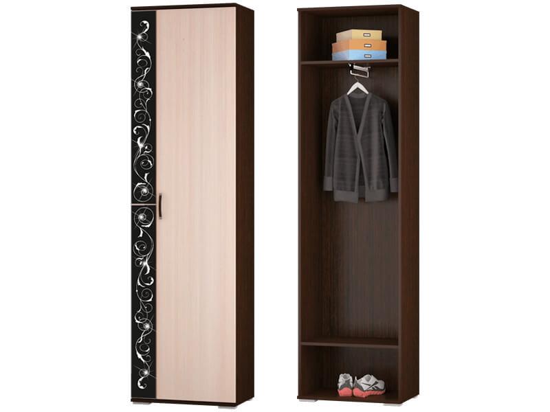 Шкаф для одежды с выдвижной штангой 600x2196x384 мм