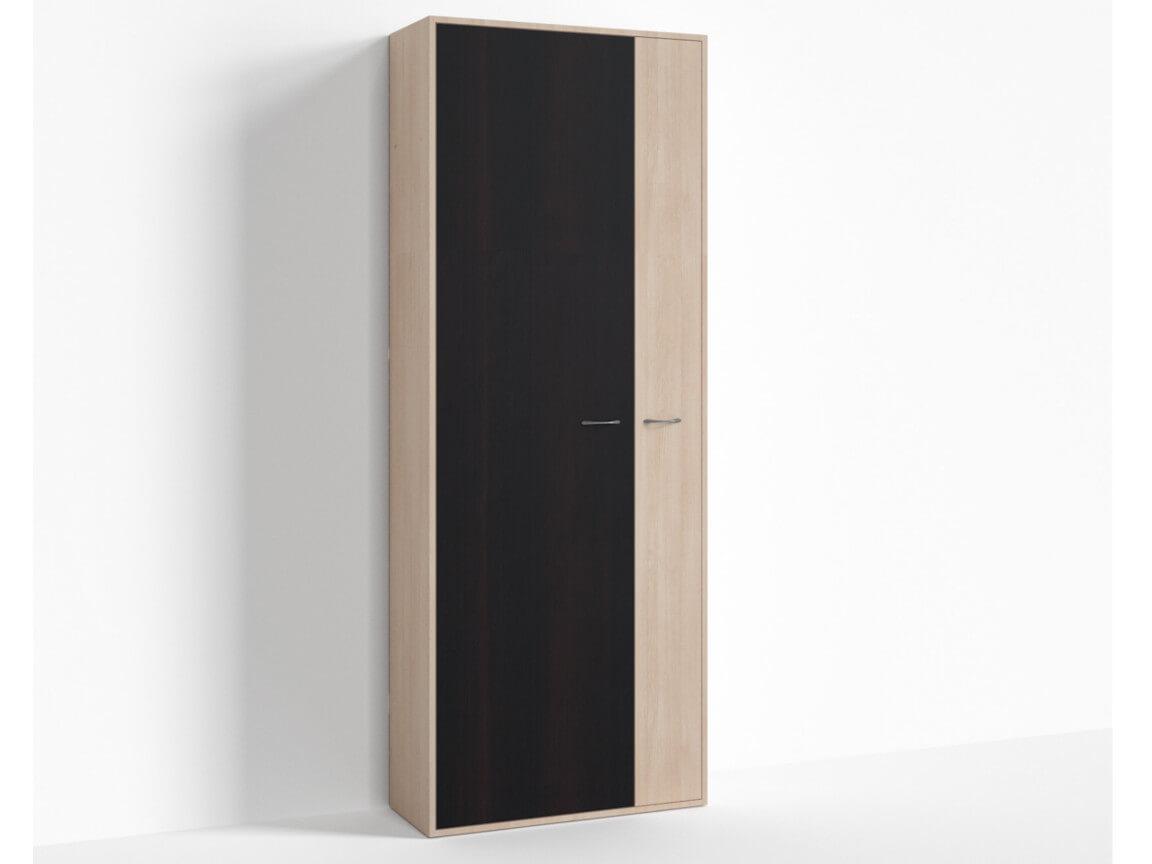 Шкаф широкий левый ПР-ШС-1-4 800х334х2100 Дуб Миланский - Дуб девонширский
