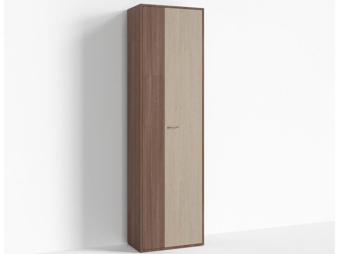 Шкаф узкий ПР-ШС-1-2 600х334х2100 Ясень шимо светлый- Ясень шимо темный
