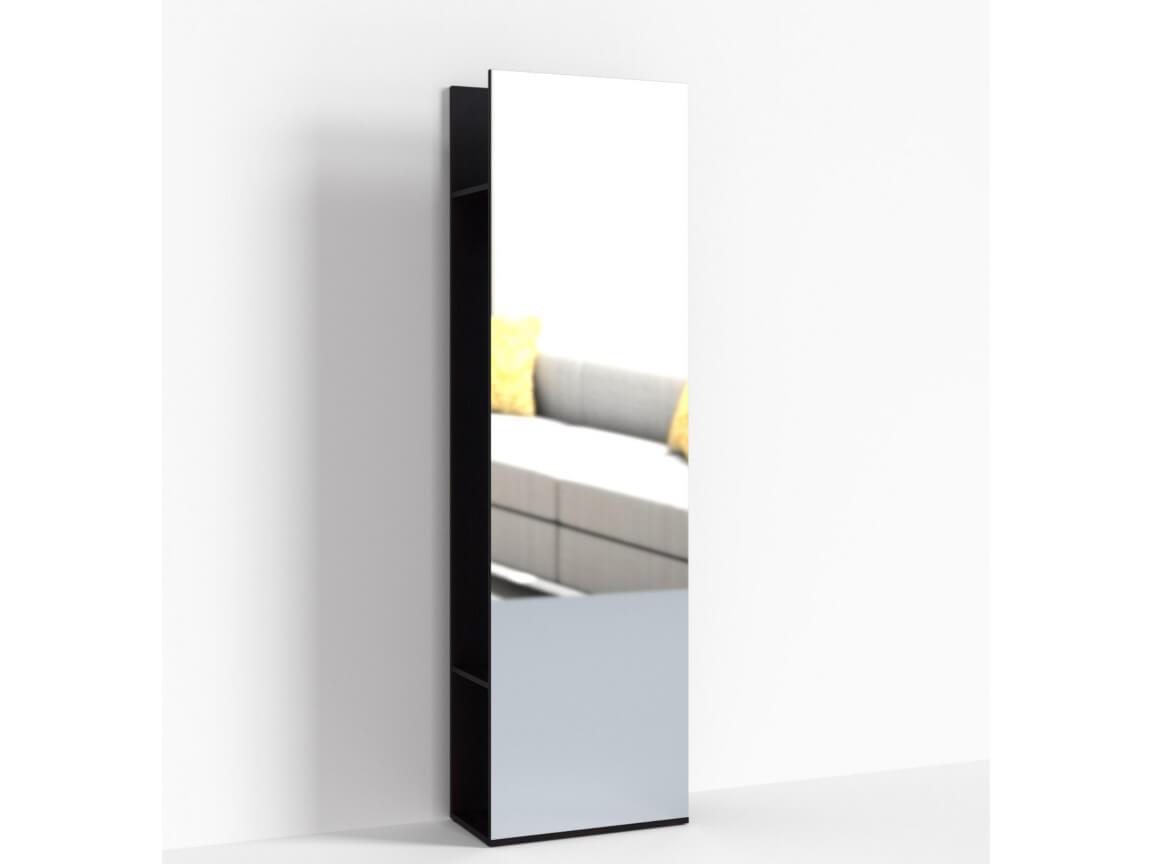 Стеллаж с зеркалом ПР-ШС-1-1 600х330х2100 Дуб Миланский