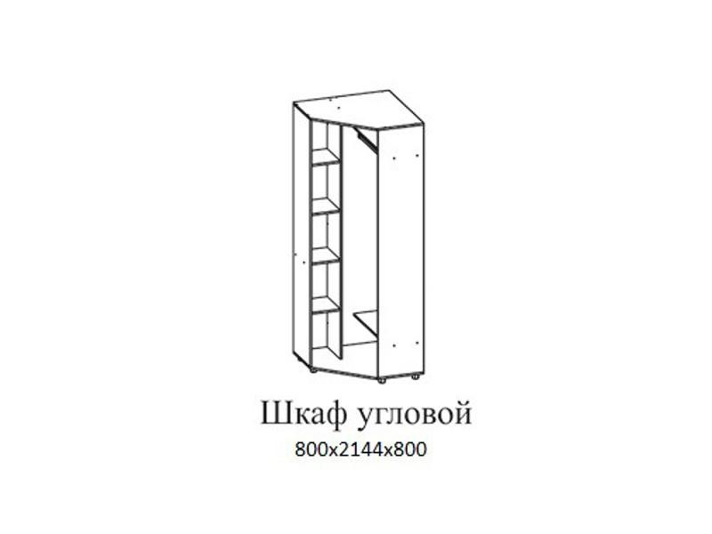 Шкаф угловой 800х2144х800