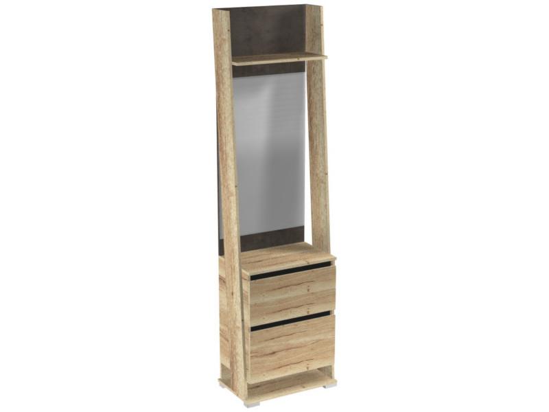 Шкаф открытый с зеркалом ПС-3 600х375х2200
