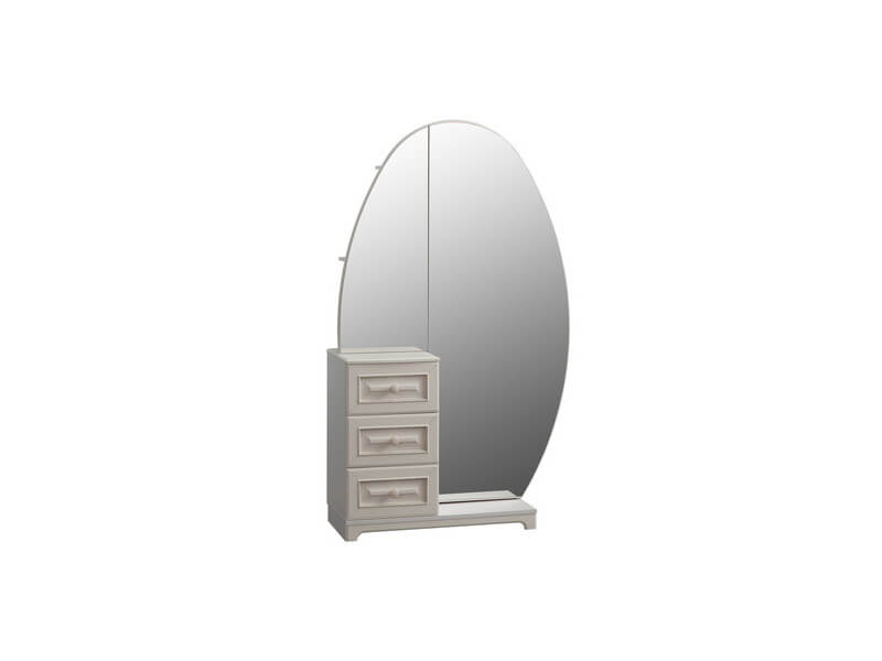 Шкаф комбинированный с зеркалом 1050х420х1758 мм