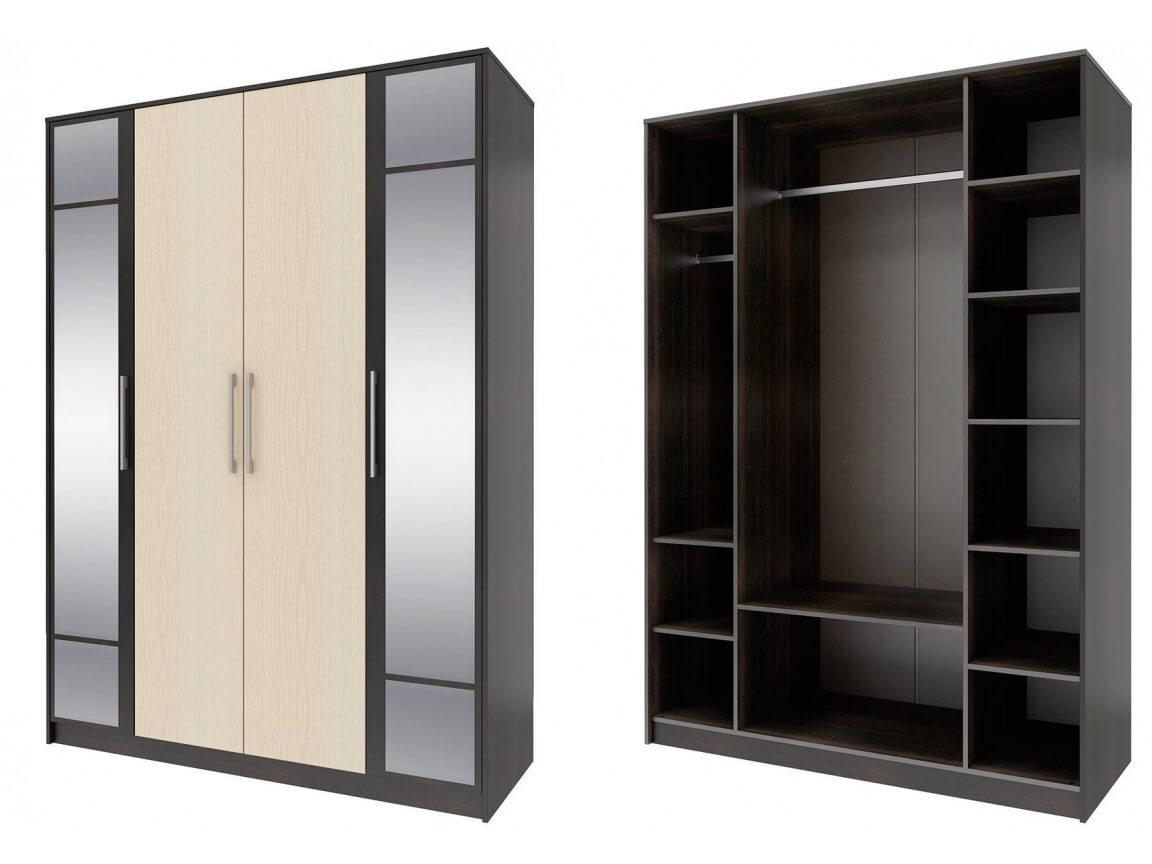 Шкаф 4-х дверный с зеркалом СТЛ.138.10 1600х2230х590 мм