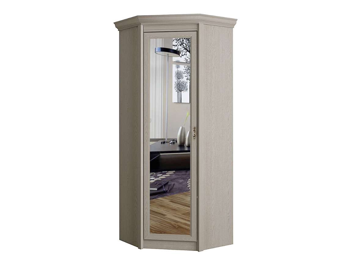 Шкаф угловой с зеркалом 641 дуб гарвард 582х2315х461