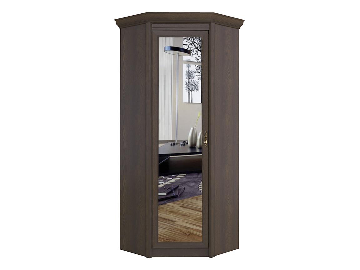 Шкаф угловой с зеркалом 641 дуб оксфорд 582х2315х461