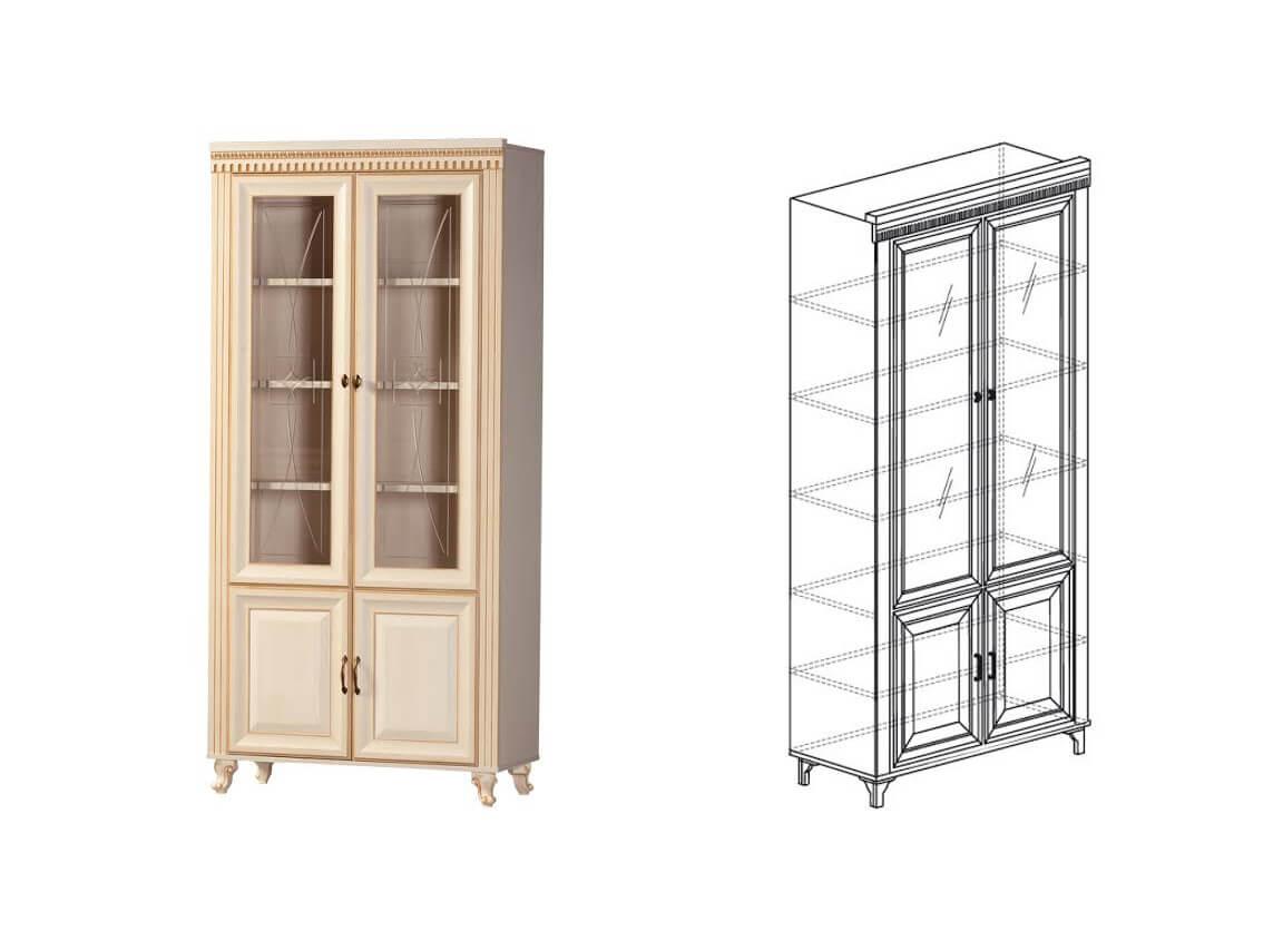 476 Шкаф для книг 1023х2146х435