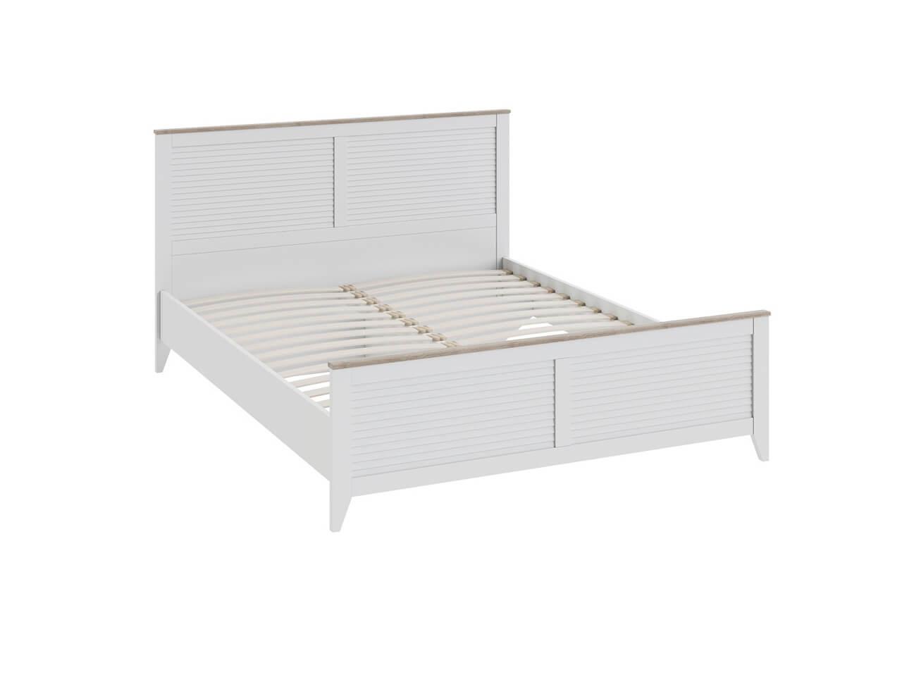 Двуспальная кровать с изножьем Ривьера СМ 241-01-001 1682х2070х1026