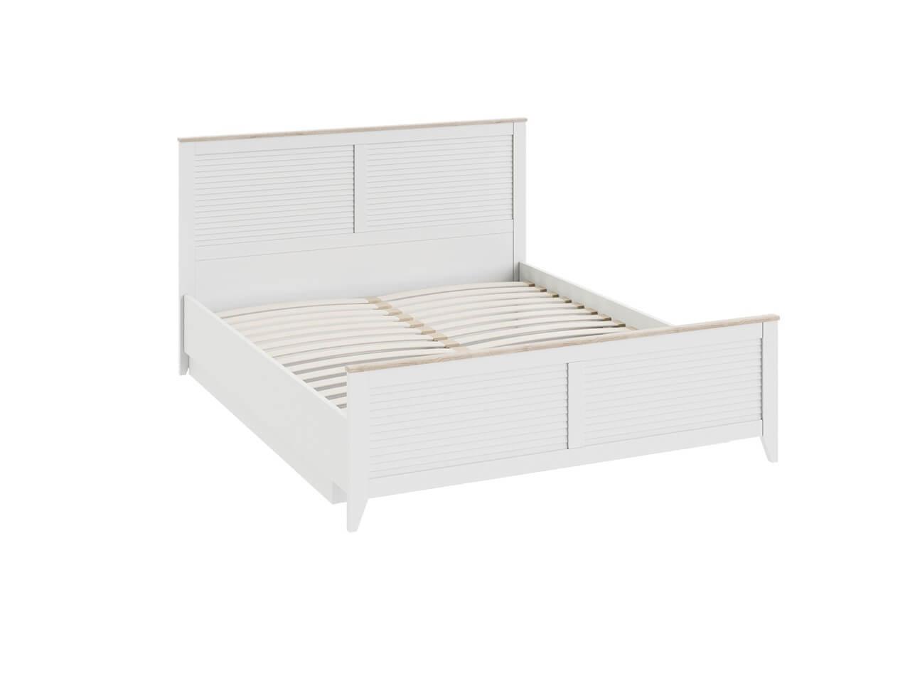 Двуспальная кровать с ПМ с изножьем Ривьера СМ 241-01-002 1682х2070х1026