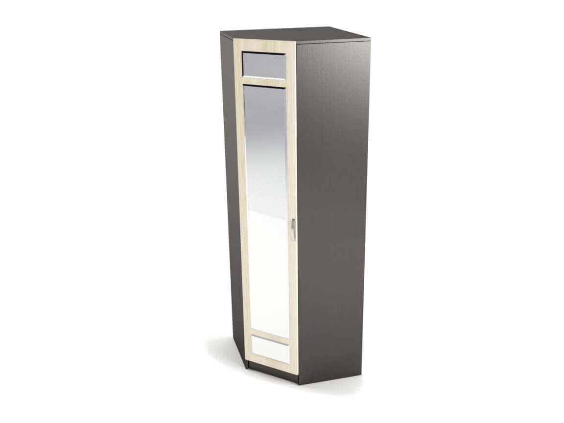 Шкаф угловой с зеркалом 2270х750х750 мм