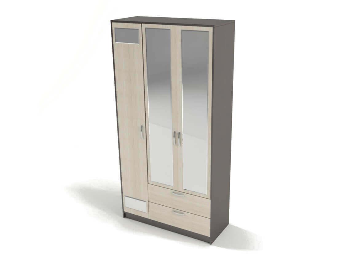 Шкаф 3-х створчатый с зеркалом 2270х1120х450 мм