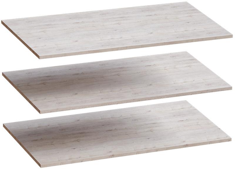 Комплект полок 3 шт для 4-дверного шкафа 1026х510х16 Дуб бонифаций