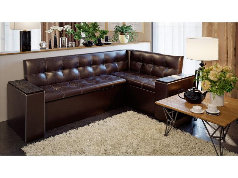 фото Кухонный диван со спальным местом Остин Коричневый