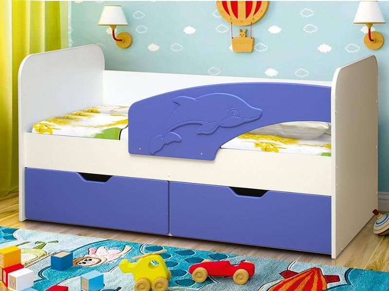 фото Кровать детская Дельфин МДФ матовый