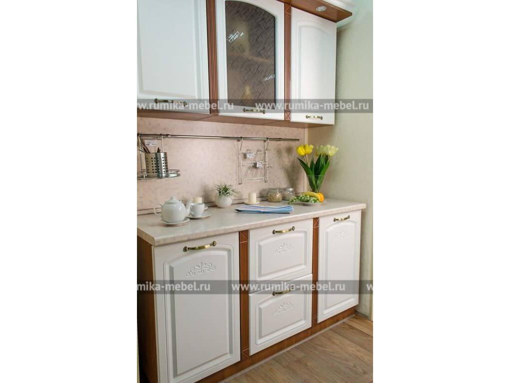 фото Кухня Фантазия ясень белый-орех