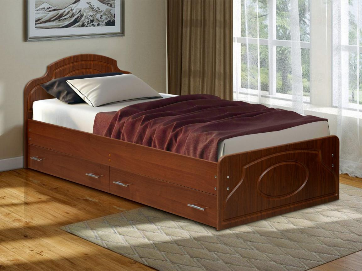 фото Кровать одинарная Венеция 2 матовая с ящиками