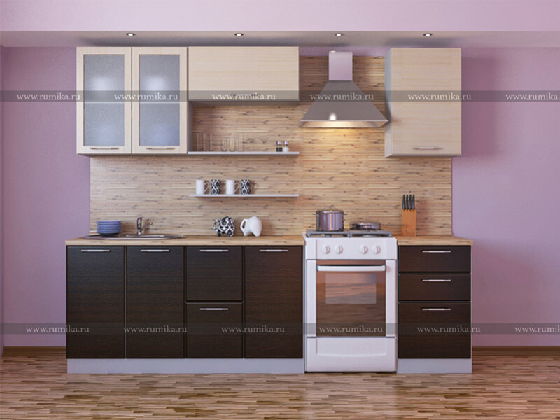 фото Кухня Фантазия венге-лен белый