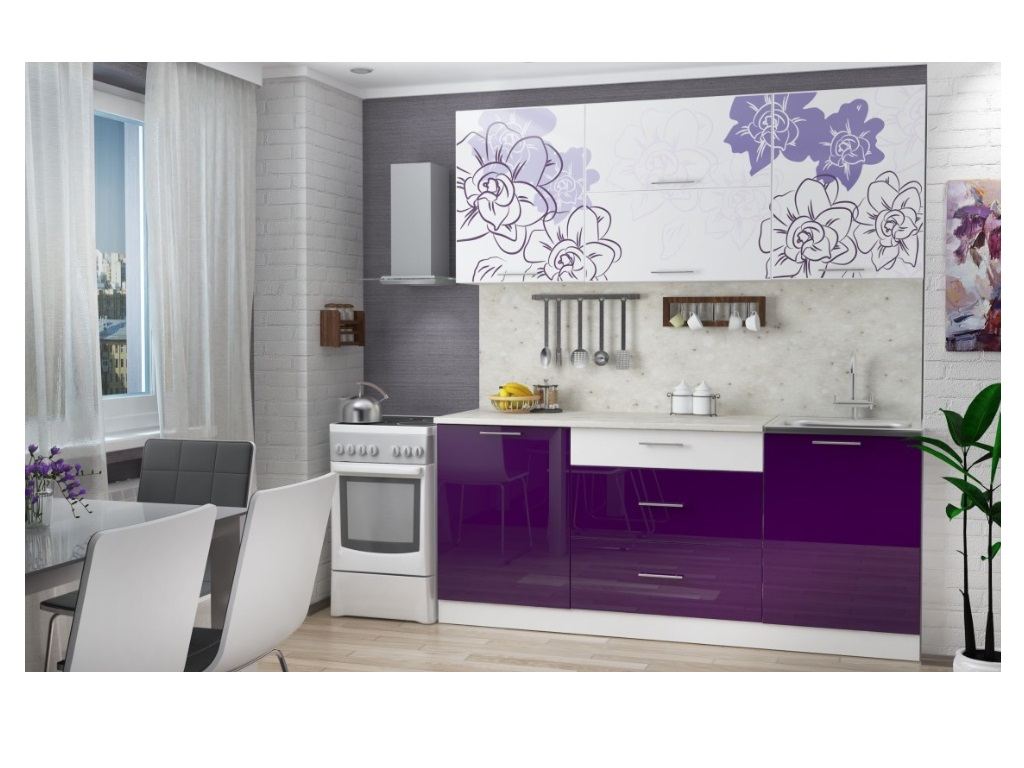 фото Кухня Бордо Виолет