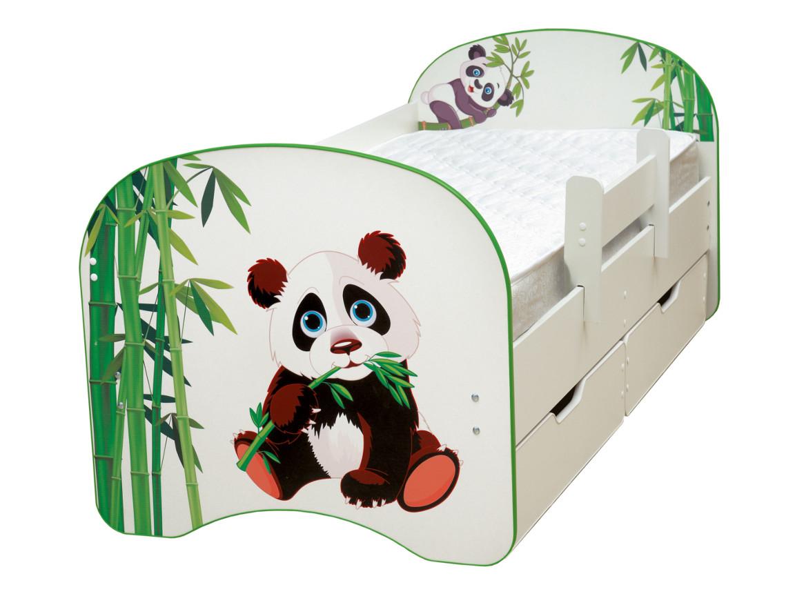 фото Кровать детская с фотопечатью с 2-мя ящиками Панда