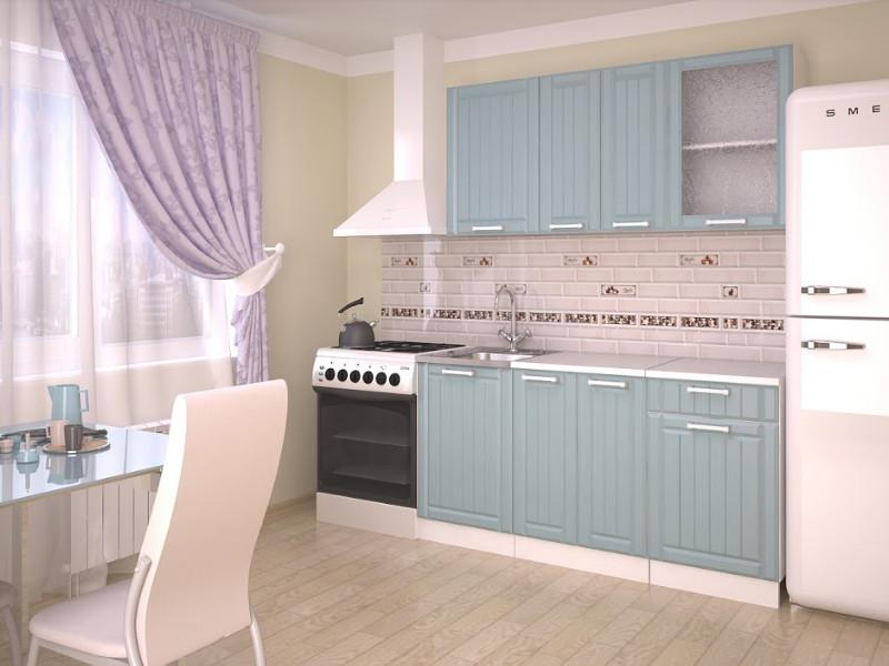 фото Кухонный гарнитур Прованс Роялвуд голубой 1500