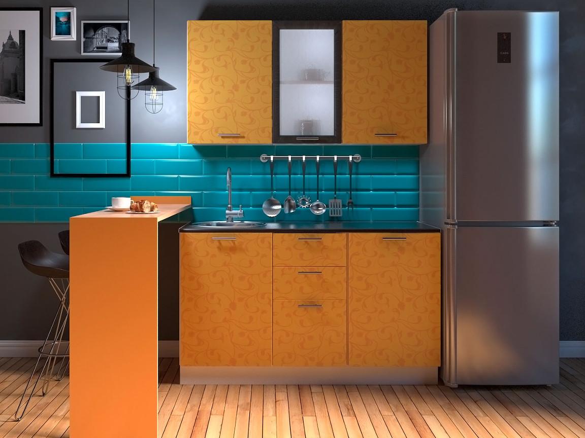 фото Модульная кухня Комфорт манго цветы