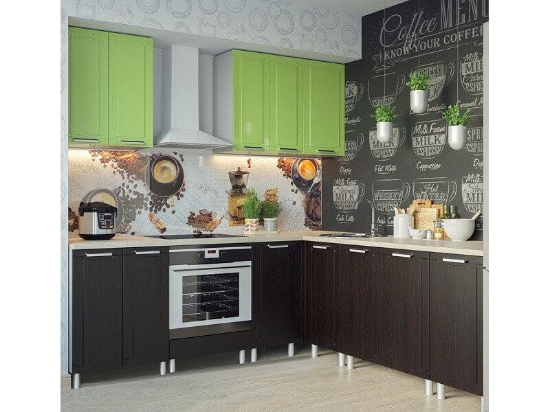 фото Кухня Геометрия Фисташка