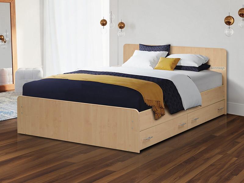 фото Кровать двойная на уголках No 5 с ящиками Матрица