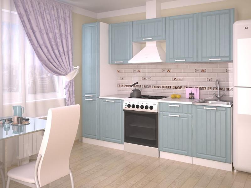 фото Кухонный гарнитур Прованс Роялвуд голубой 2500