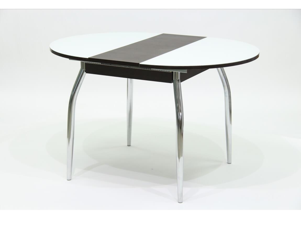 фото Стол круглый раздвижной со стеклом Гала 3