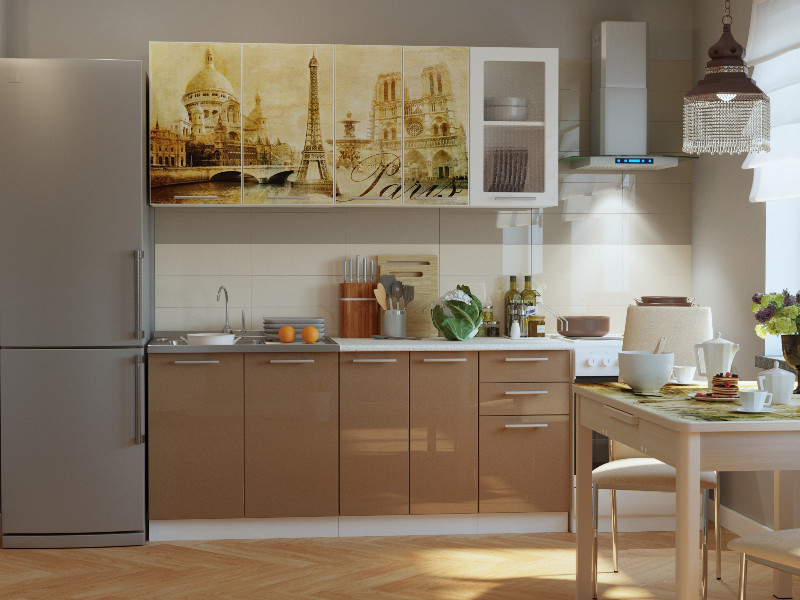 фото Кухонный гарнитур Риал К-68-Капучино 1800