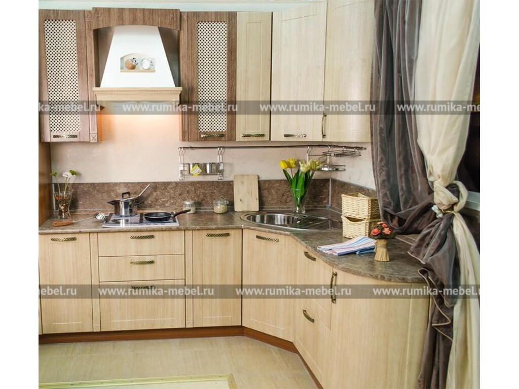 фото Кухня Фантазия дуб светлый-дуб темный