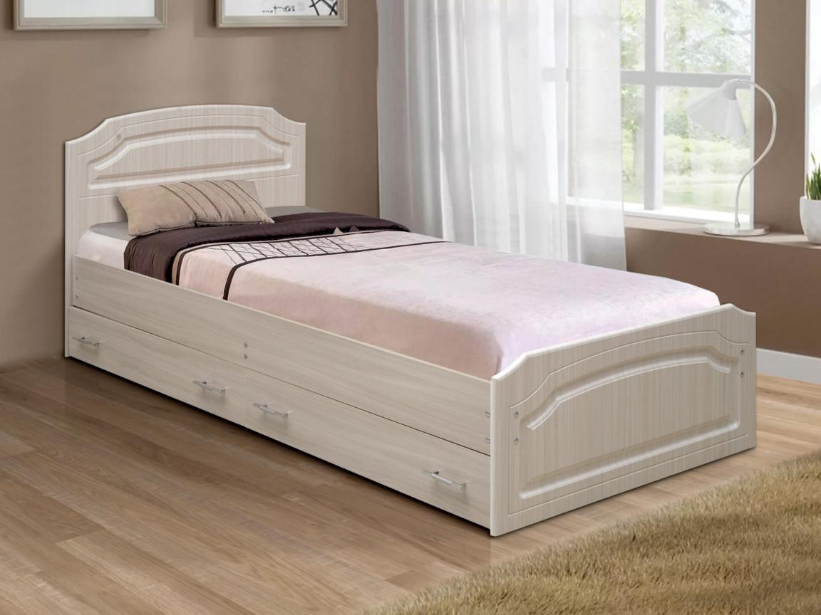 фото Кровать одинарная Венеция 3 матовая с ящиками