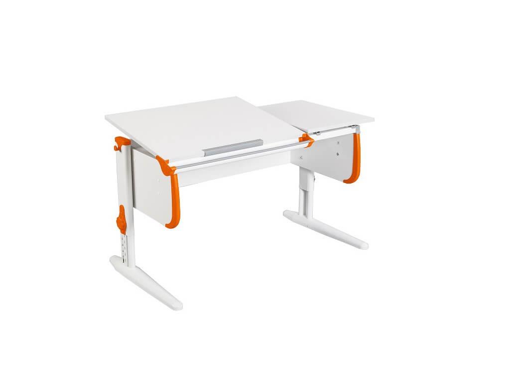 фото Парта СУТ-25 White оранжевая