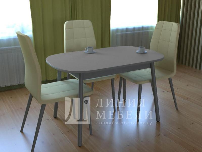 фото Стол обеденный Винтаж со стеклом матовый