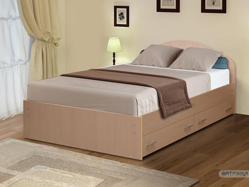 фото Кровать двойная на уголках No 3 с ящиками Матрица