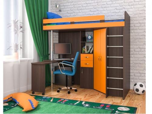 Кровать-чердак Юниор 3 Оранж Бодего